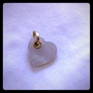 Tiffany mother of pearl heart pendant